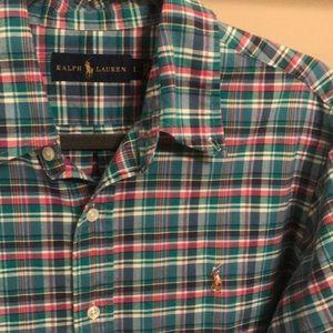 Ralph Lauren Men's Plaid Button Down - Size L
